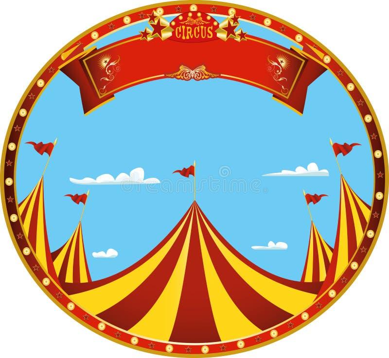 Συμπαθητικό τσίρκο ημέρας αυτοκόλλητων ετικεττών απεικόνιση αποθεμάτων