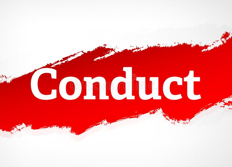 Συμπεριφοράς κόκκινη απεικόνιση υποβάθρου βουρτσών αφηρημένη απεικόνιση αποθεμάτων