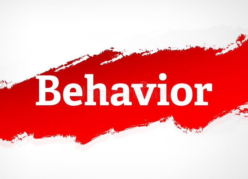 Συμπεριφοράς κόκκινη απεικόνιση υποβάθρου βουρτσών αφηρημένη διανυσματική απεικόνιση