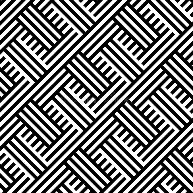 ΣΥΜΠΛΕΚΟΝΤΑΣ ΡΙΓΩΤΕΣ ΓΡΑΜΜΕΣ Γεωμετρικό άνευ ραφής διανυσματικό σχέδιο διανυσματική απεικόνιση