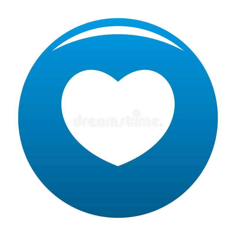 Συμπονετικό διανυσματικό μπλε εικονιδίων καρδιών απεικόνιση αποθεμάτων