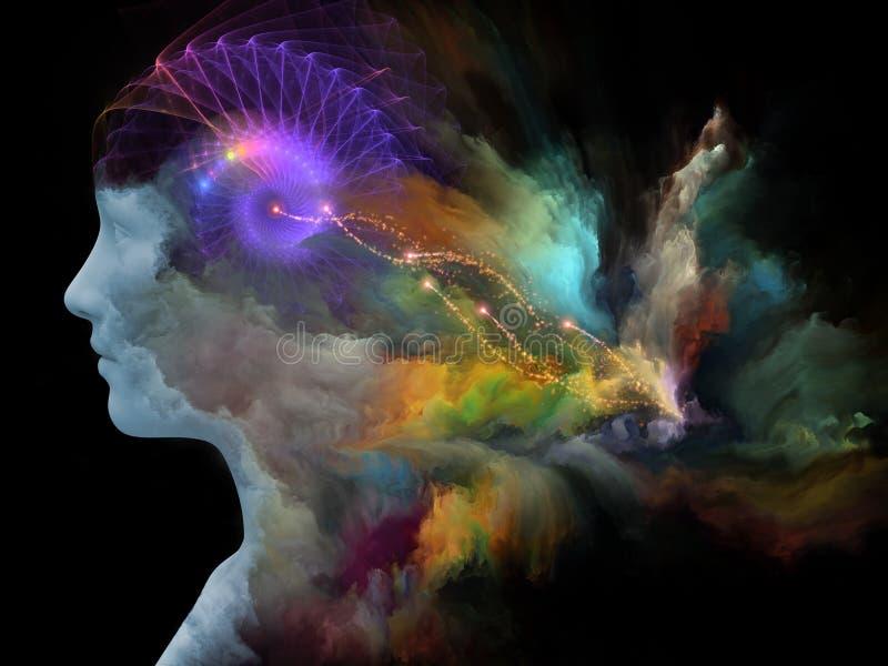 Συμπράξεις του χρωματισμένου ονείρου απεικόνιση αποθεμάτων