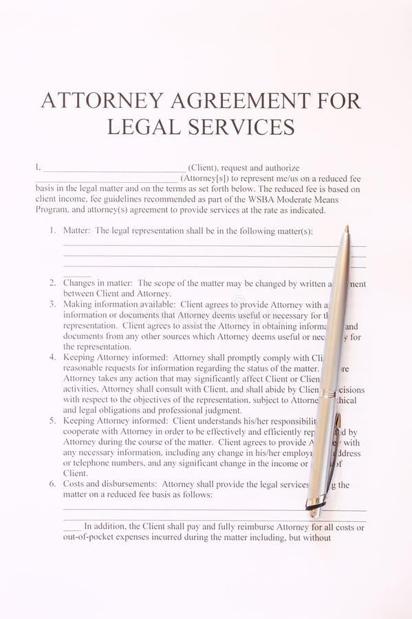 Συμφωνία πληρεξούσιων για τη μορφή και τη μάνδρα νομικών υπηρεσιών. τοπ άποψη στοκ εικόνες με δικαίωμα ελεύθερης χρήσης