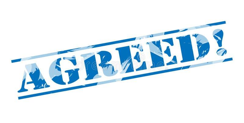 Συμφωνηθε'ν μπλε γραμματόσημο ελεύθερη απεικόνιση δικαιώματος