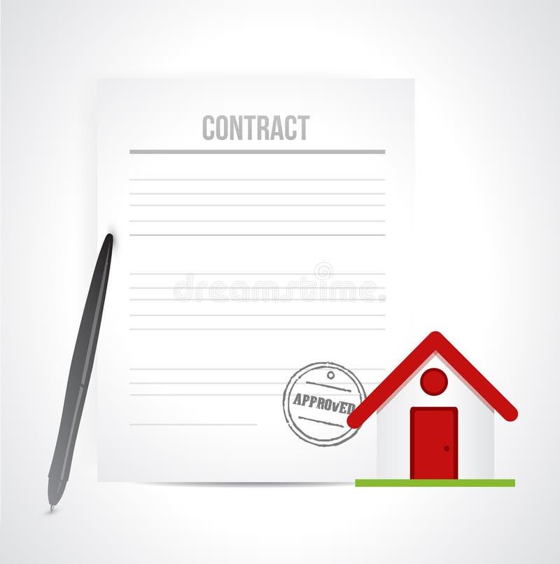 Συμφωνητικό επιχειρησιακής σύμβασης ακίνητων περιουσιών ελεύθερη απεικόνιση δικαιώματος