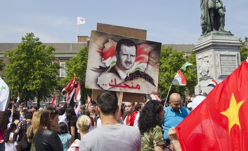 συνάθροιση Σύριοι του Assad στοκ φωτογραφίες