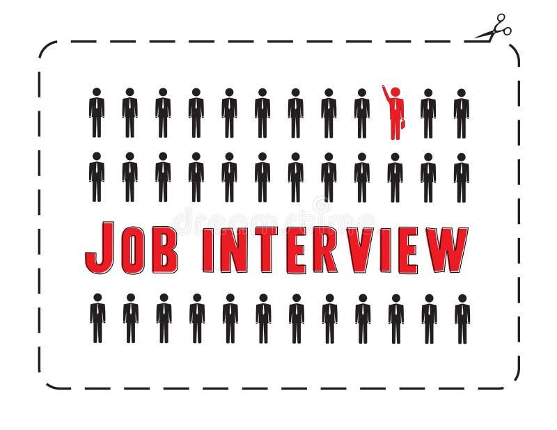 Συνέντευξη εργασίας ελεύθερη απεικόνιση δικαιώματος