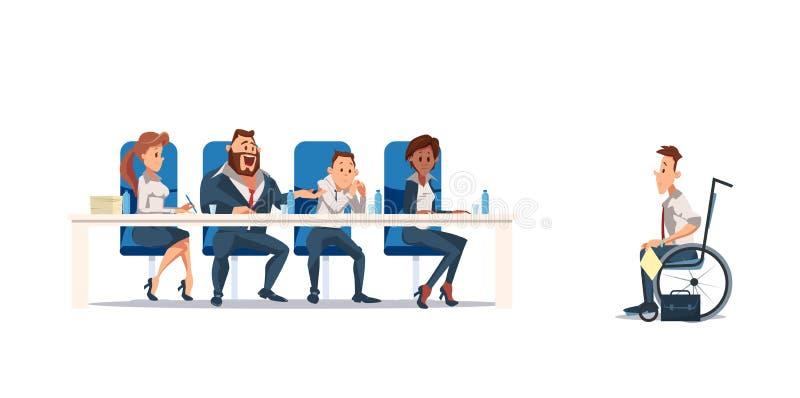 Συνέντευξη και στρατολόγηση εργασίας επίσης corel σύρετε το διάνυσμα απεικόνισης διανυσματική απεικόνιση