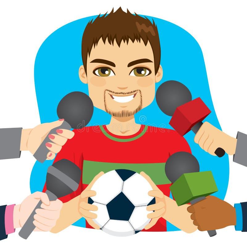 Συνέντευξη ποδοσφαιριστών απεικόνιση αποθεμάτων