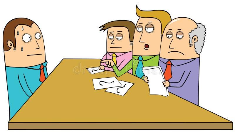 Συνέντευξη διανυσματική απεικόνιση