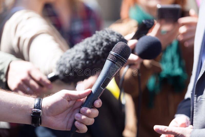 Συνέντευξη MEDIA στοκ εικόνες με δικαίωμα ελεύθερης χρήσης