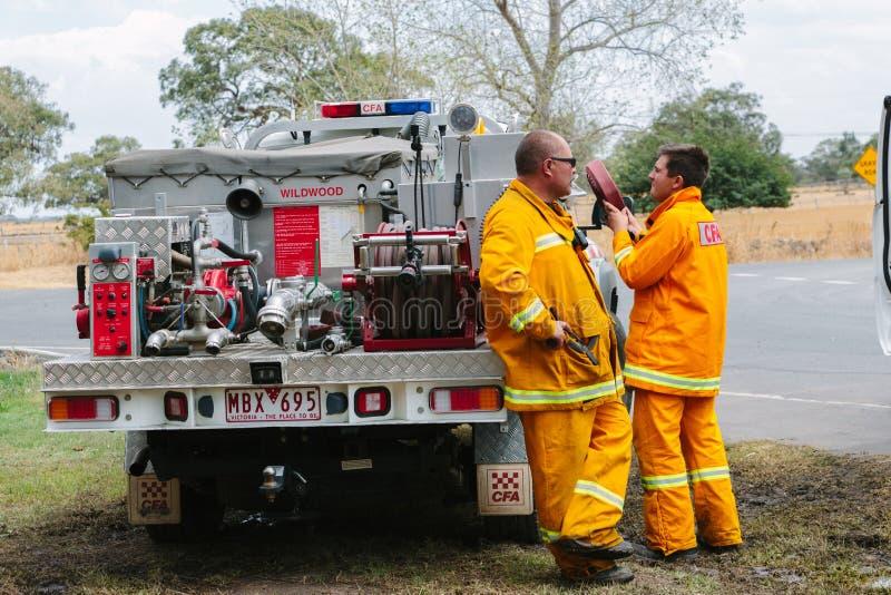 Συνέπεια των ανεξέλεγκτων δασικών φωτιών Epping στοκ εικόνα