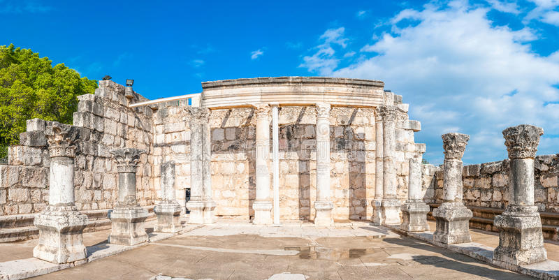 Συναγωγή Capernaum στοκ φωτογραφία