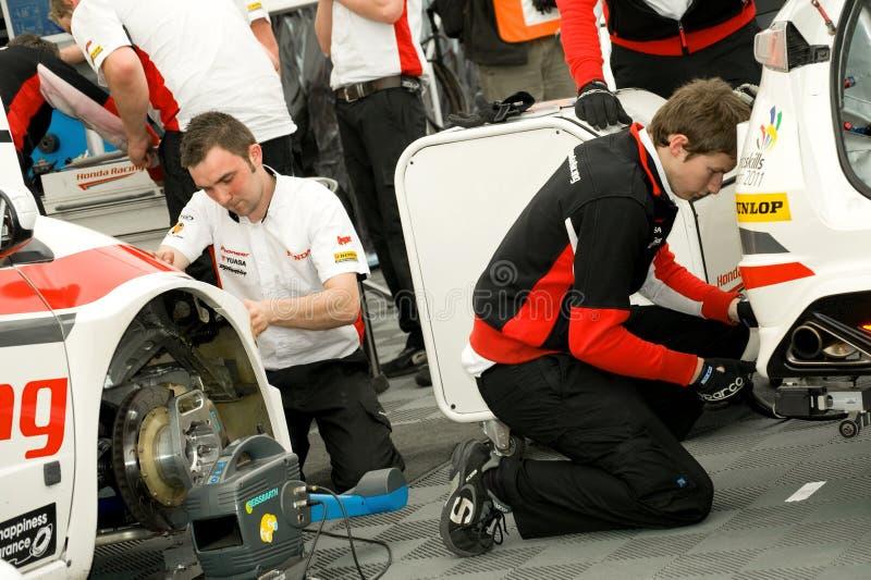 συναγωνιμένος ομάδα Honda στοκ φωτογραφίες