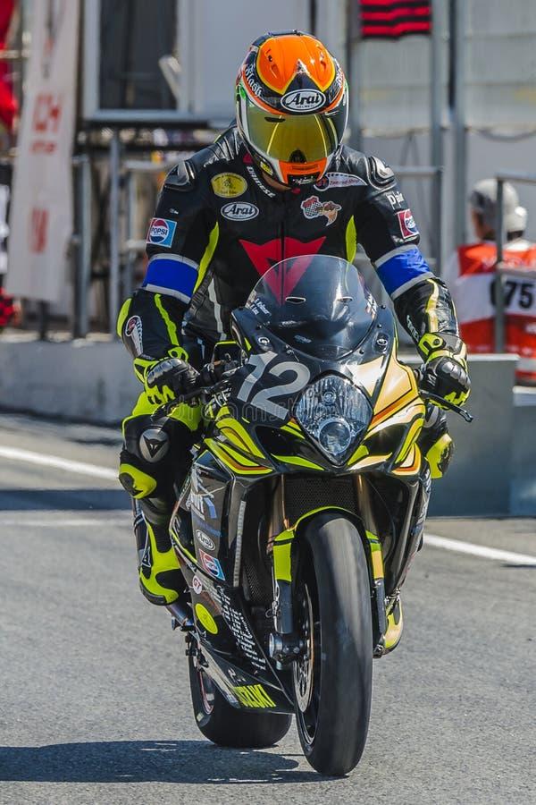 Συναγωνιμένος ομάδα Arlberg 24 ώρες Motorcycling Catalunya στοκ εικόνες
