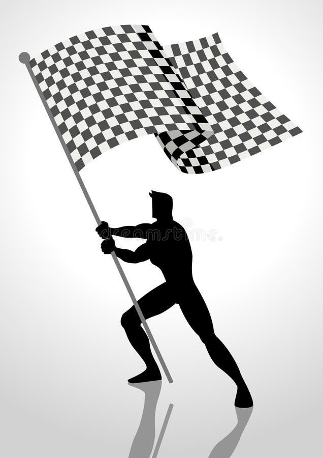 Συναγωνιμένος φορέας σημαιών ελεύθερη απεικόνιση δικαιώματος