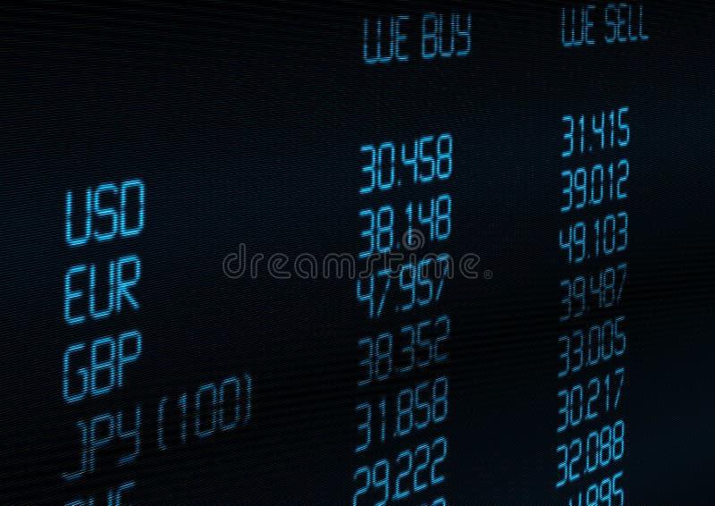 συναλλαγματική ισοτιμία νομίσματος απεικόνιση αποθεμάτων