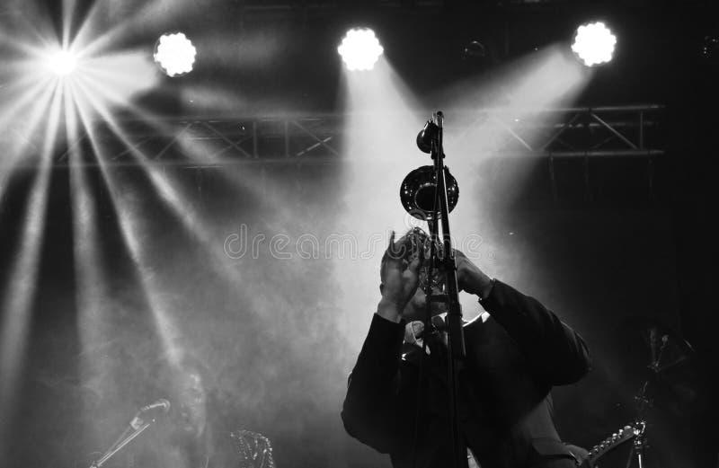 συναυλία με τις σάλπιγγες στοκ φωτογραφία