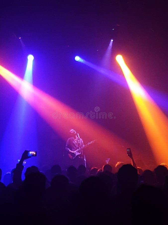 Συναυλία με το φως στοκ εικόνες