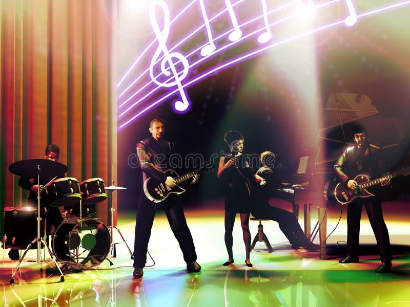 Συναυλία της μουσικής ζώνης ελεύθερη απεικόνιση δικαιώματος
