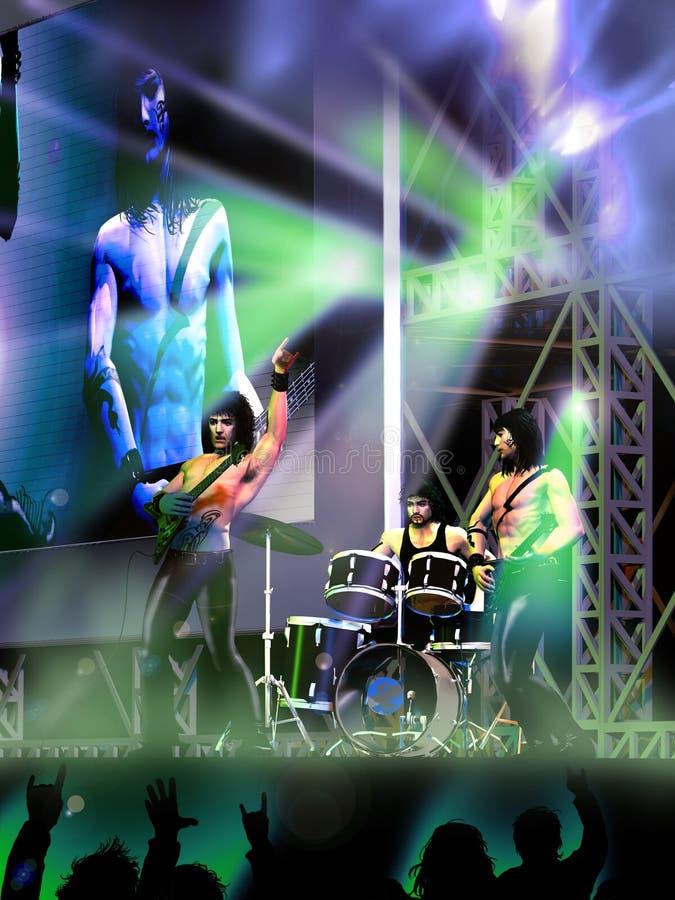 Συναυλία της ορχήστρας ροκ απεικόνιση αποθεμάτων
