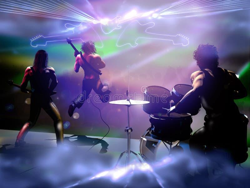 Συναυλία της ορχήστρας ροκ διανυσματική απεικόνιση