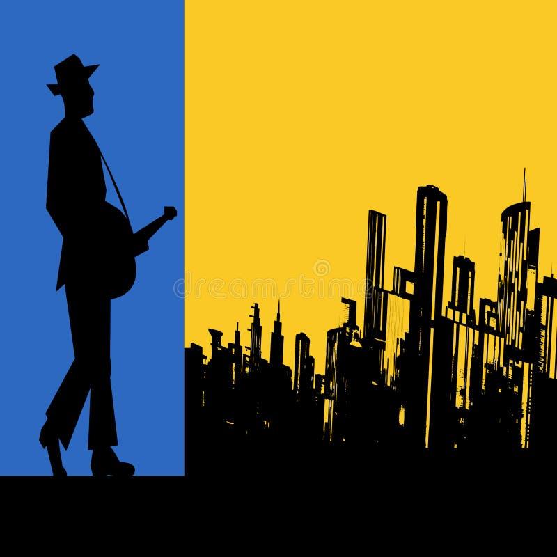 Μεγάλα μπλε πόλεων διανυσματική απεικόνιση