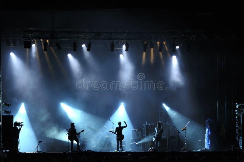 Συναυλία βράχου ζωντανή στοκ εικόνες με δικαίωμα ελεύθερης χρήσης