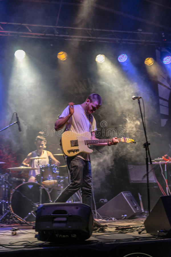 Συναυλία μουσικής ροκ στοκ εικόνες
