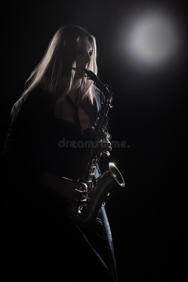 Συναυλία μουσικών της Jazz φορέων Saxophone στοκ φωτογραφία με δικαίωμα ελεύθερης χρήσης