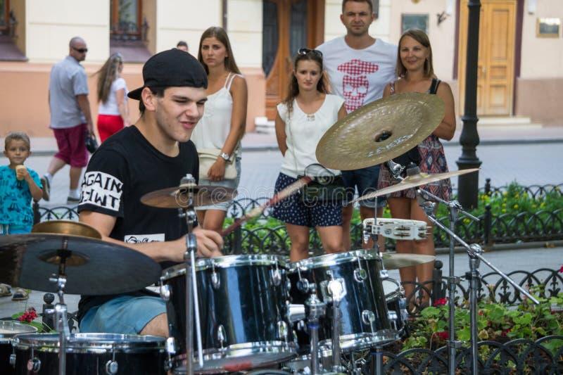 Συναυλία οδών μουσικής φιλανθρωπίας στοκ φωτογραφίες