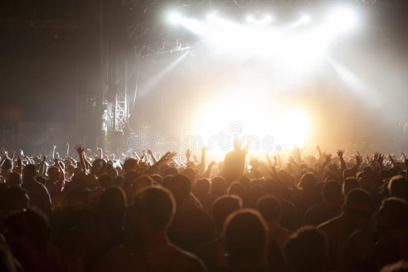 Συναυλία πλήθους στοκ φωτογραφία