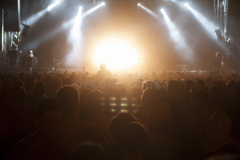Συναυλία πλήθους στοκ φωτογραφίες