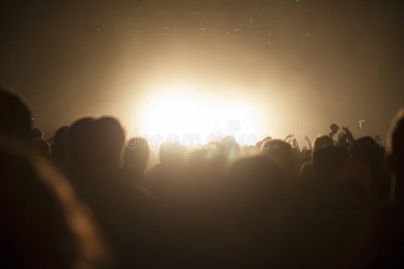 Συναυλία πλήθους στοκ εικόνα