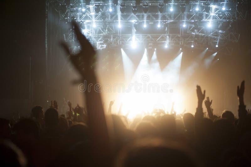 Συναυλία πλήθους στοκ εικόνα με δικαίωμα ελεύθερης χρήσης