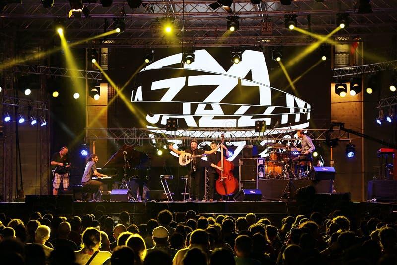 Συναυλία της Jazz στοκ φωτογραφία με δικαίωμα ελεύθερης χρήσης