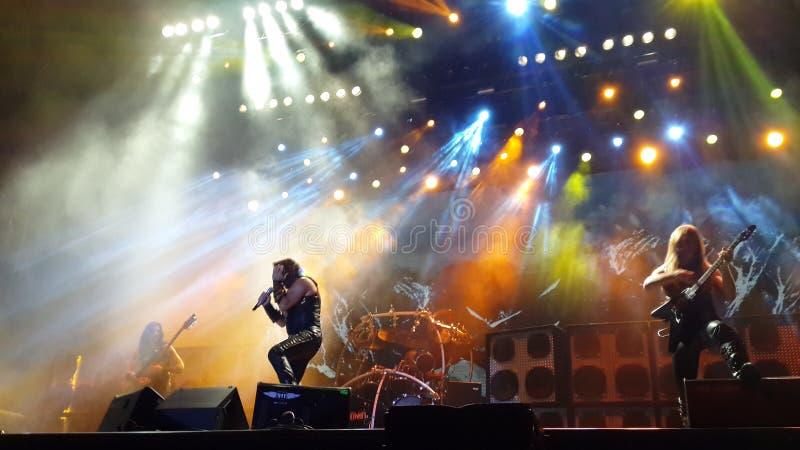 Συναυλία Manowar στοκ φωτογραφία