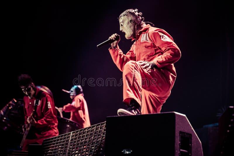 Συναυλία Slipknot στοκ εικόνες