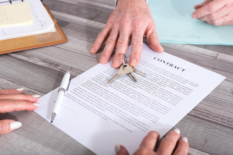Συναλλαγή ακίνητων περιουσιών στοκ φωτογραφία με δικαίωμα ελεύθερης χρήσης