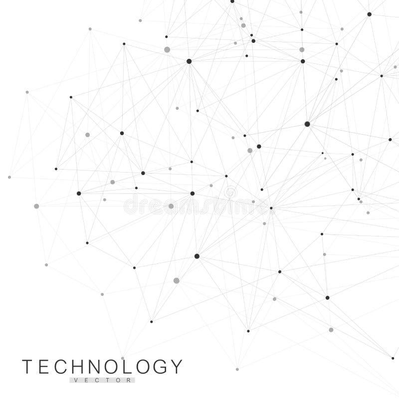 Συνδέσεις παγκόσμιων δικτύων με τα σημεία και τις γραμμές Υπόβαθρο Wireframe Αφηρημένη δομή σύνδεσης Polygonal διάστημα ελεύθερη απεικόνιση δικαιώματος