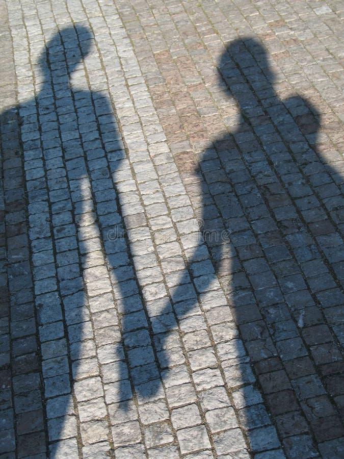 συνδέστε τη σκιά στοκ εικόνα με δικαίωμα ελεύθερης χρήσης