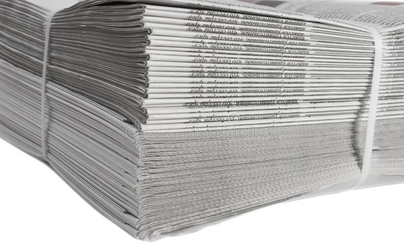 συνδεδεμένες εφημερίδες που τυπώνονται στοκ φωτογραφία με δικαίωμα ελεύθερης χρήσης
