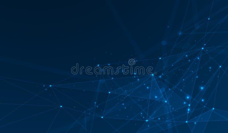 Συνδεδεμένο διανυσματικό υπόβαθρο πλεγμάτων πολυγώνων, απεικόνιση ψηφιακών στοιχείων r απεικόνιση αποθεμάτων