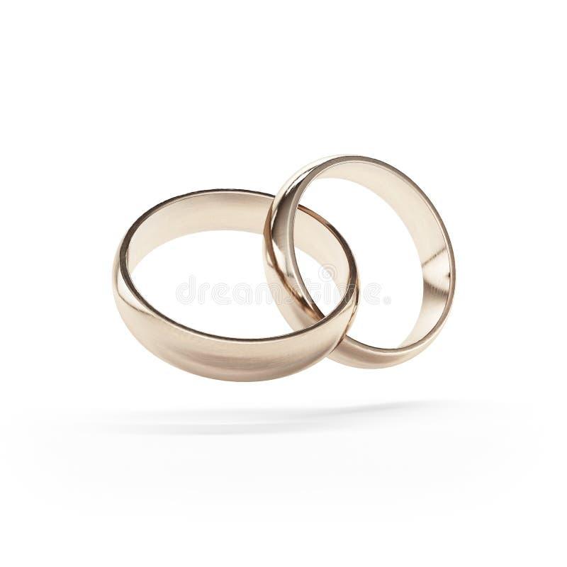 Συνδεμένα χρυσά γαμήλια δαχτυλίδια στοκ φωτογραφία με δικαίωμα ελεύθερης χρήσης
