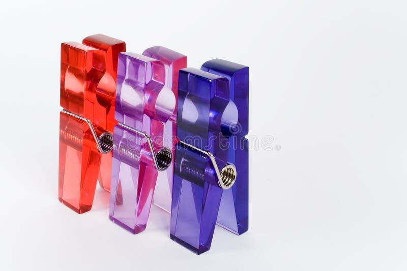 συνδετήρες τρία στοκ φωτογραφία με δικαίωμα ελεύθερης χρήσης