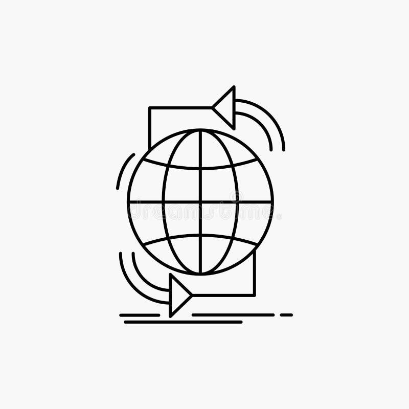 Συνδετικότητα, σφαιρική, Διαδίκτυο, δίκτυο, εικονίδιο γραμμών Ιστού : ελεύθερη απεικόνιση δικαιώματος