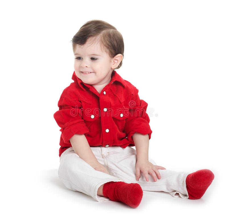 Συνεδρίαση μωρών μικρών παιδιών στοκ εικόνες