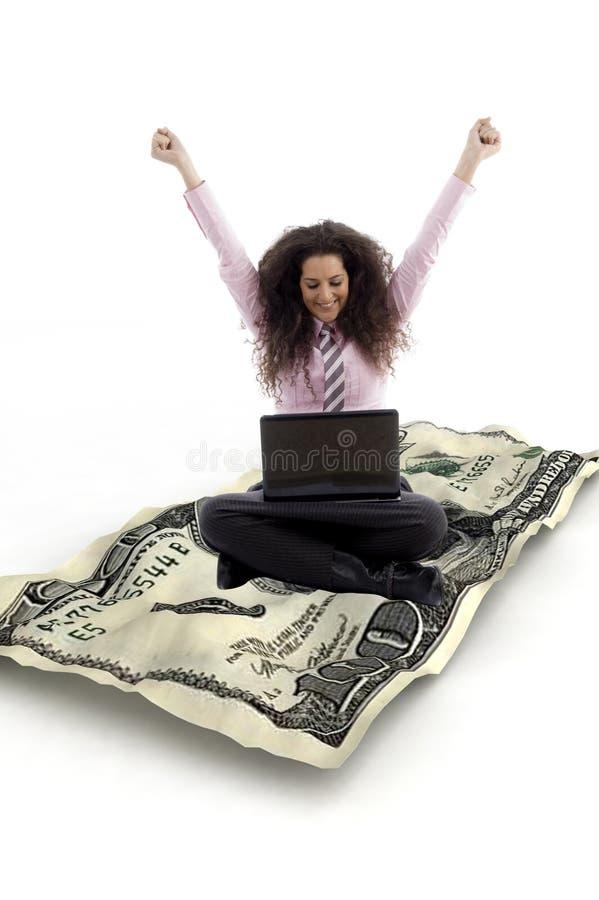 συνεδρίαση σημειώσεων lap-top επιχειρηματιών στοκ εικόνες