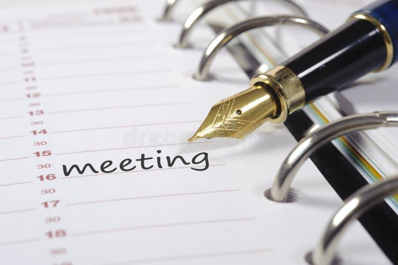 συνεδρίαση της ημερομηνί&al στοκ φωτογραφίες με δικαίωμα ελεύθερης χρήσης