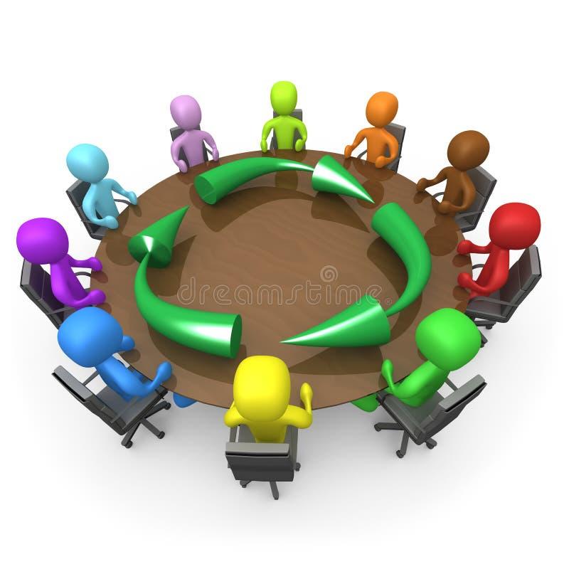 συνεδρίαση της οικολο& ελεύθερη απεικόνιση δικαιώματος